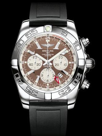 百年灵机械计时GMT腕表系列AB041012/Q586黑深潜胶带