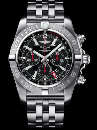 百年灵机械计时GMT腕表系列AB041210/BB48飞行员钢带