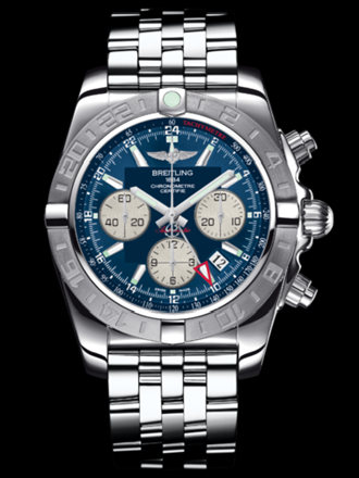 百年灵机械计时GMT终极计时腕表系列AB042011/C851飞行员钢带