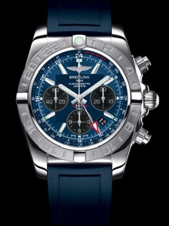 百年灵机械计时GMT终极计时腕表系列AB042011/C852蓝深潜胶带