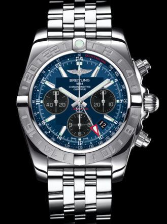 百年灵机械计时GMT终极计时腕表系列AB042011/C852飞行员钢带