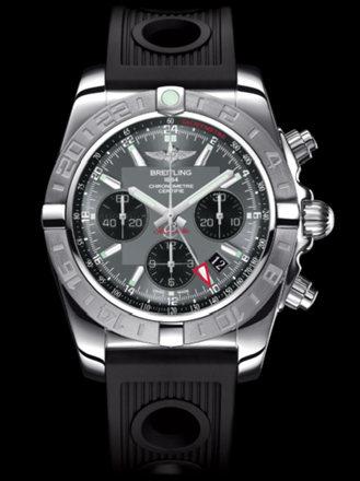 百年灵机械计时GMT终极计时腕表系列AB042011/F561黑海洋竞赛胶带