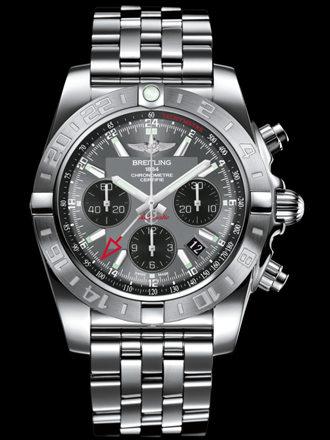 百年灵机械计时GMT终极计时腕表系列AB042011/F561飞行员钢带