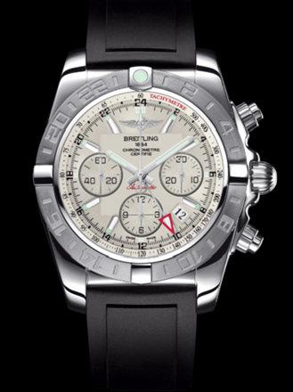 百年灵机械计时GMT终极计时腕表系列AB042011/G745黑深潜胶带