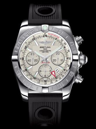 百年灵机械计时GMT终极计时腕表系列AB042011/G745黑海洋竞赛胶带