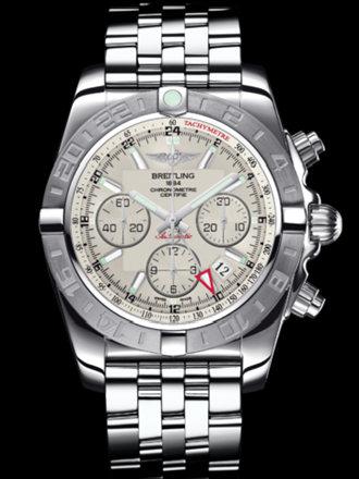 百年灵机械计时GMT终极计时腕表系列AB042011/G745飞行员钢带