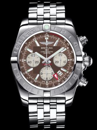 百年灵机械计时GMT终极计时腕表系列AB042011/Q589飞行员钢带