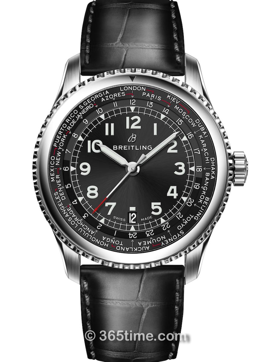 百年灵航空计时8系列世界时间腕表AB352113