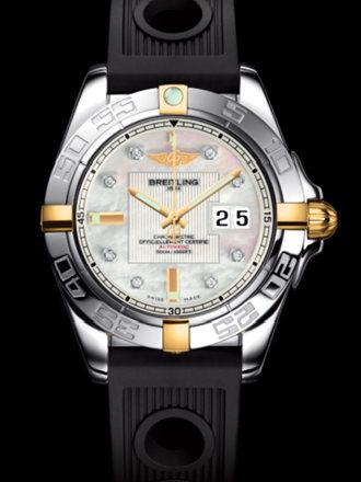 百年灵银河41腕表系列B49350L2/A704黑海洋竞赛胶带
