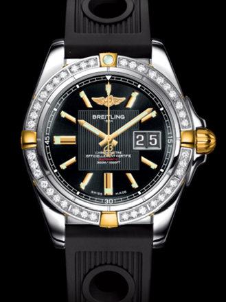 百年灵银河41腕表系列B49350LA/BA08黑海洋竞赛胶带