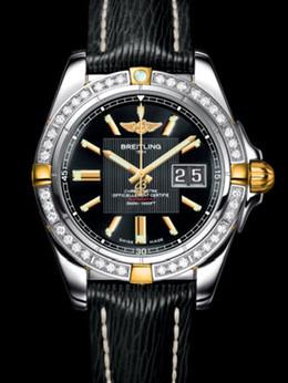 百年灵银河41腕表系列B49350LA/BA08黑SAHARA皮带