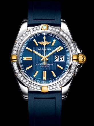 百年灵银河41腕表系列B49350LA/C809蓝深潜胶带
