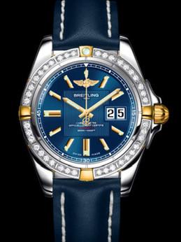 百年灵银河41腕表系列B49350LA/C809蓝皮带