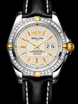 百年灵银河41腕表系列B49350LA/G700黑皮带