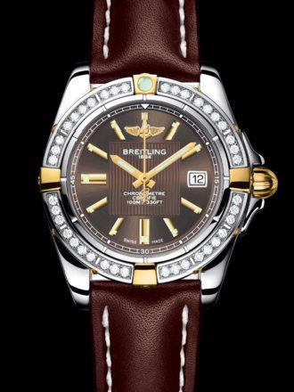 百年灵银河32腕表系列B71356LA/Q579棕皮带