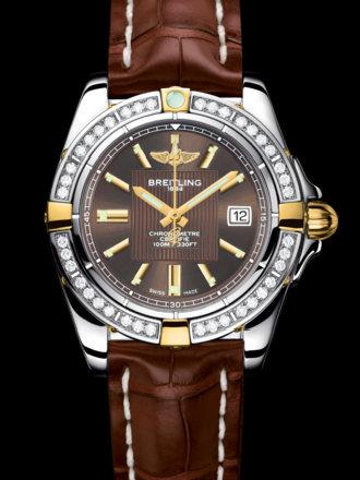 百年灵银河32腕表系列B71356LA/Q579棕鳄鱼皮带