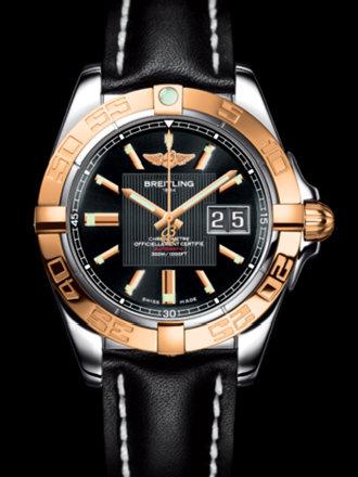 百年灵银河41腕表系列C49350L2/BA08黑皮带