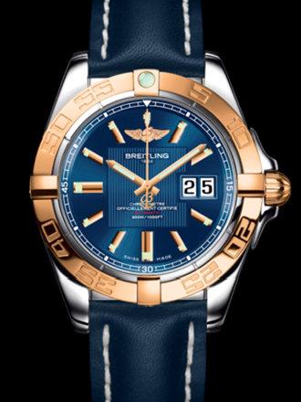 百年灵银河41腕表系列C49350L2/C809蓝皮带