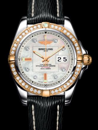 百年灵银河41腕表系列C49350LA/A706黑SAHARA皮带