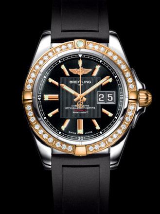 百年灵银河41腕表系列C49350LA/BA09黑深潜胶带