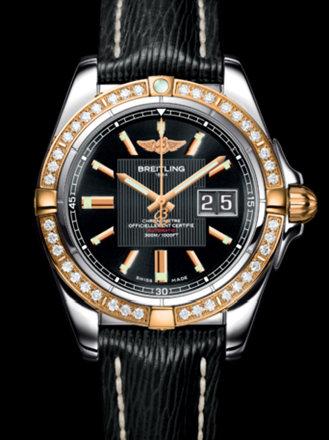 百年灵银河41腕表系列C49350LA/BA09黑SAHARA皮带