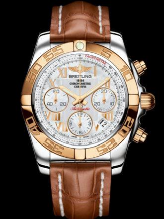 百年灵机械计时41腕表系列CB014012/A748金鳄鱼皮带