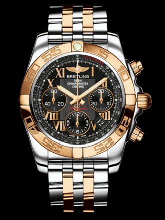 百年灵机械计时41腕表系列CB014012/BC08飞行员间金带