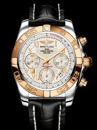 百年灵机械计时41腕表系列CB014012/G759黑鳄鱼皮带