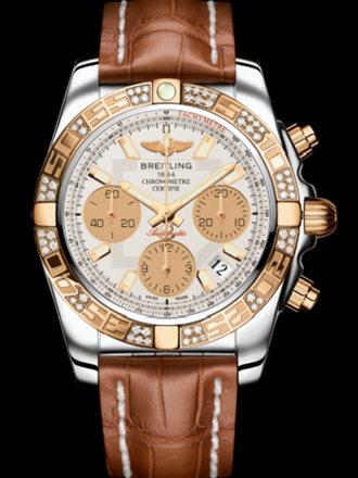 百年灵机械计时41腕表系列CB0140AA/G713金鳄鱼皮带
