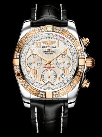 百年灵机械计时41腕表系列CB0140AA/G759黑鳄鱼皮带