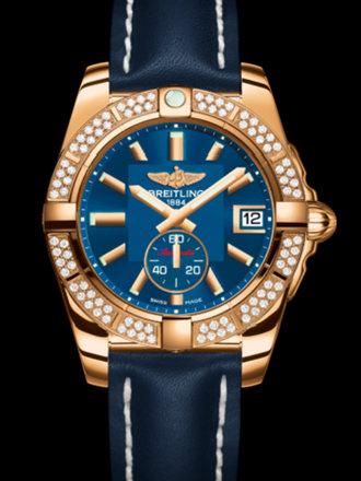 百年灵银河36自动腕表系列H3733053/C831蓝皮带