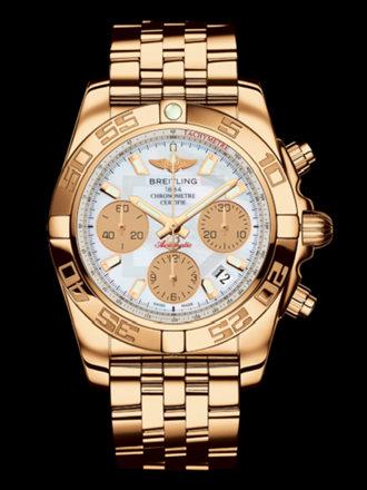 百年灵机械计时41腕表系列HB014012/A722飞行员玫瑰金带
