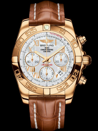 百年灵机械计时41腕表系列HB014012/A748金鳄鱼皮带