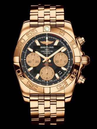 百年灵机械计时41腕表系列HB014012/BA53飞行员玫瑰金带
