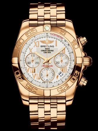 百年灵机械计时41腕表系列HB014012/G759飞行员玫瑰金带