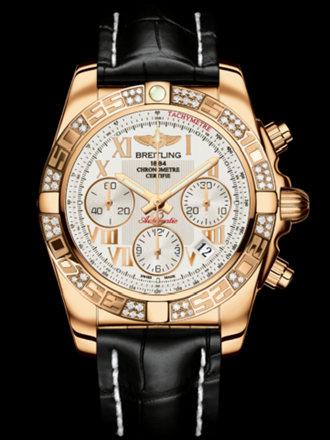 百年灵机械计时41腕表系列HB014012/G759黑鳄鱼皮带