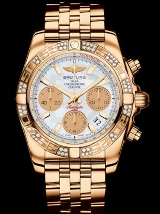 百年灵机械计时41腕表系列HB0140AA/A722飞行员玫瑰金带