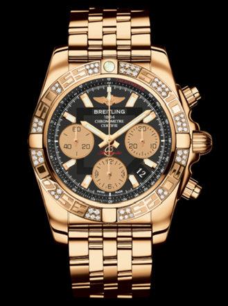 百年灵机械计时41腕表系列HB0140AA/BA53飞行员玫瑰金带