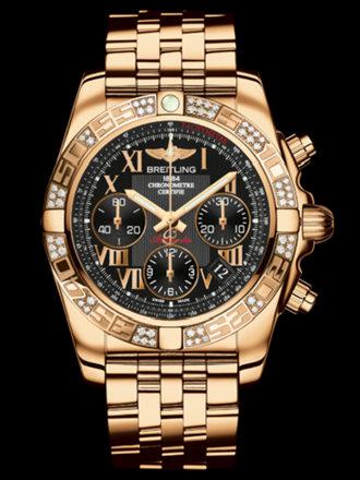 百年灵机械计时41腕表系列HB0140AA/BC08飞行员玫瑰金带