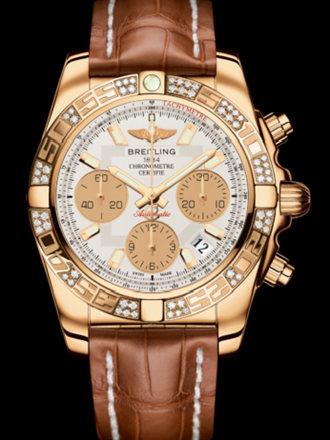 百年灵机械计时41腕表系列HB0140AA/G713金鳄鱼皮带