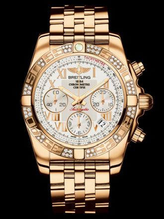 百年灵机械计时41腕表系列HB0140AA/G759飞行员玫瑰金带