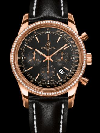 百年灵越洋计时腕表系列RB015253/BB16黑皮带