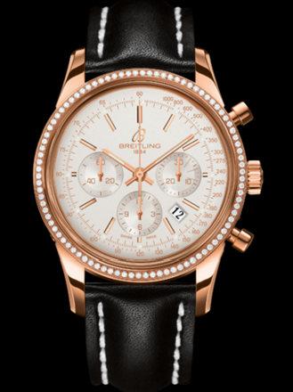 百年灵越洋计时腕表系列RB015253/G738黑皮带