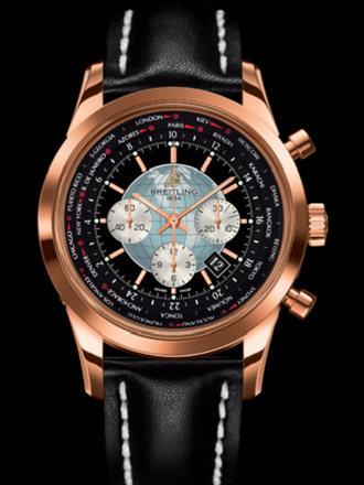 百年灵越洋GMT计时腕表系列RB0510U4/BB63黑皮带