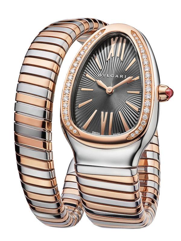 宝格丽SERPENTI TUBOGAS系列单圈玫瑰金精钢腕表102681