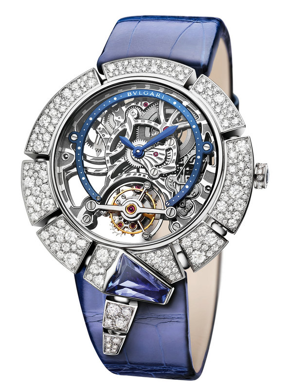 宝格丽SERPENTI INCANTATI TOURBILLON LUMIERE系列白金腕表102723