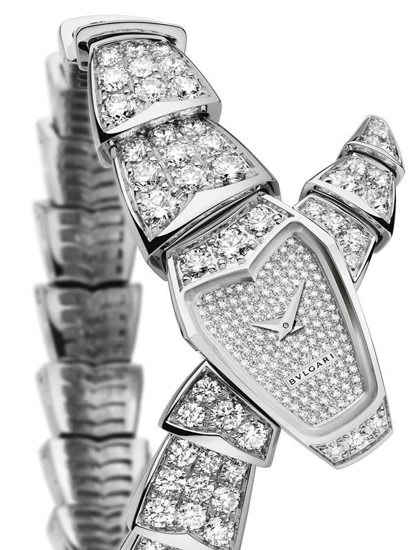 宝格丽Serpenti系列高级珠宝白金镶钻及表盘镶钻款