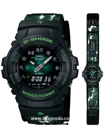 CASIO卡西欧G-SHOCK系列G-100BT-3E1JR