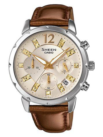CASIO卡西欧SHEEN CHRONOGRAPH计时系列SHE-5024BL-9A