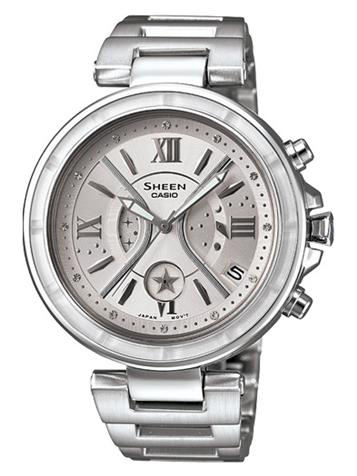 CASIO卡西欧SHEEN CHRONOGRAPH计时系列SHE-5515D-7A